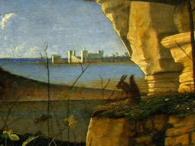 BELLINI,G  SAINT JEROME READING, 1480 1490, DETALJ 3, NGW