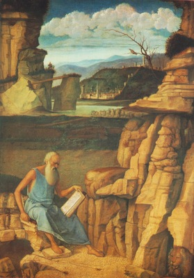 BELLINI,G  ST JEROME READING IN THE COUNTRYSIDE, NG LONDON