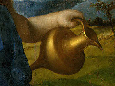 BELLINI,G  THE INFANT BACCHUS, PROBABLY 1505 1510, DETALJ 2,
