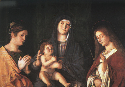 BELLINI,G  THE VIRGIN AND CHILD WITH TWO SAINTS, PRADO