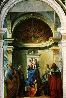 Bellini,Giovanni Madonna with saints, 1505, 402x273 cm, Chur