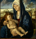 bellini,g  and workshop madonna and child in a landscape,