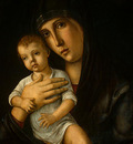 BELLINI,G  MADONNA AND CHILD, C  1475, DETALJ, NGW