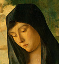 BELLINI,G  MADONNA AND CHILD IN A LANDSCAPE, C  1480, DETALJ