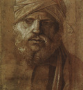 BELLINI,G  MAN WITH A TURBAN, UFFIZI