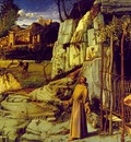 Bellini,Giovanni St Francis in the desert, ca 1480, 124 4x14