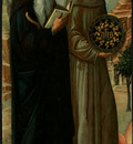 BELLINI,J  SAINT ANTHONY ABBOT AND SAINT BERNARDINO OF SIENA