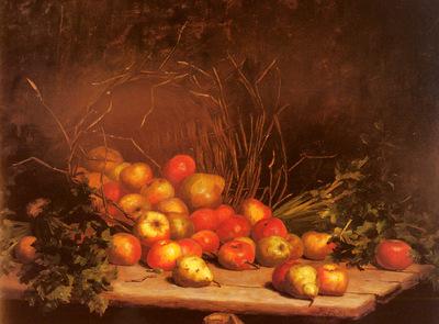 Bellis Hubert An Overturned Basket Of Fruit And Vegatables