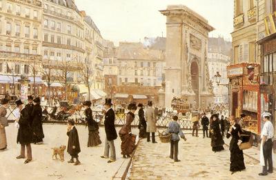 Beraud Jean Le Boulevard St Denis Paris