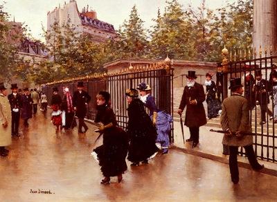 Beraud Jean Sortant De La Madeleine, Paris