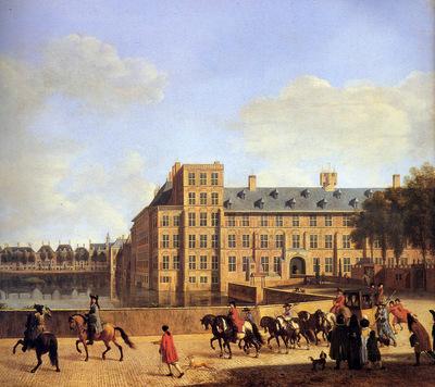 Berkheyde Gerrit Adriaensz The hofvijver in Den Haag Sun