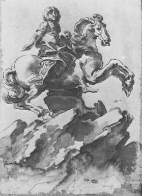 Bernini Design for the Equestrian Monument of Louis XIV