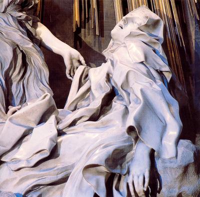 The Ecstasy of St Teresa detail