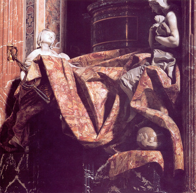 Tomb of Pope Alexander VII detail