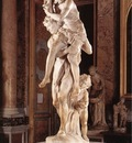 Bernini Aeneas Anchises and Ascanius detail1