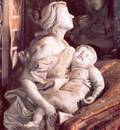 Tomb of Pope Alexander VII detail Charity