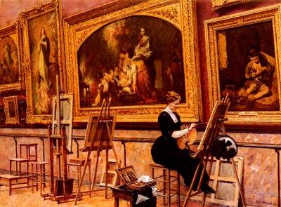 Beroud Louis Au Musee Du Louvre