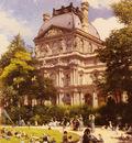 Beroud Louis Les Jardins Du Carrousel Et Le Pavillon Richelieu A Paris