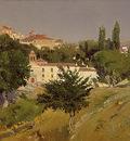 Beruete Aureliano de Paisaje con el Convento de Santo Espiritu de Segovia