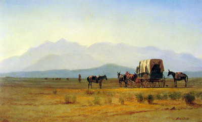 Surveyors Wagon in the Rockies