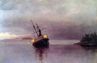 Wreck of the Ancon in Loring Bay
