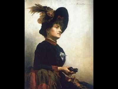 Portrait of a Lady with Opera Glasses