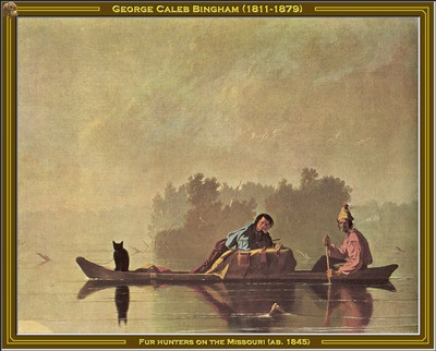 george bingham fur hunters on the missouri 1845 po amp