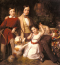 Blaas Carl Von Group Portrait With The Prince Valmontone