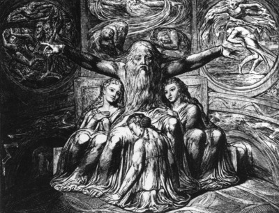 BLAKE William Job And His Daughters