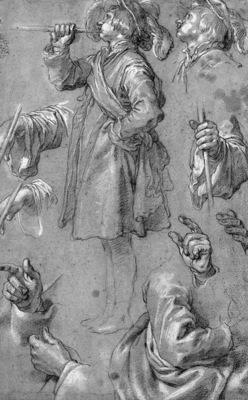 Bloemaert Abraham Study of a hornblower Sun