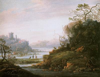 Blommaert Abraham Riverlandscape Sun
