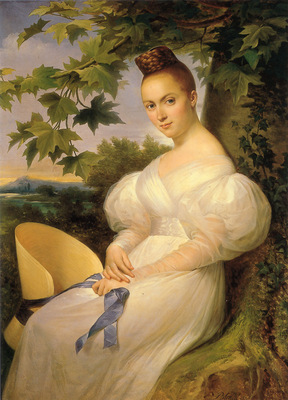 Portrait of a Woman Seated Beneath a Tree