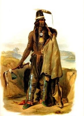 Kb 0006 Abdih Hiddisch, Mandan Chief KarlBodmer, 1832 sqs