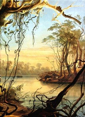 Kb 0015 Mouth of the Wabash [ Indiana ] KarlBodmer, 1833 sqs