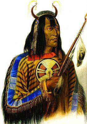 Kb 0018 Noapeh Assiniboin Indian KarlBodmer, 1833 sqs