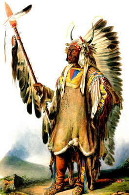 Kb 0020 Mato Tope Mandan Chief KarlBodmer, 1833 sqs