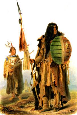 Kb 0024 Assiniboin Indians KarlBodmer, 1833 sqs