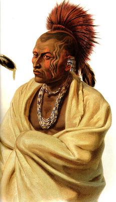 Tna 0012 Wakusasse Musquake Indian KarlBodmer, 1832 sqs