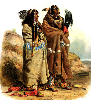 Tna 0020 Sih Chida Mahchsi Karehde, Mandan Indians KarlBodmer, 1832 sqs