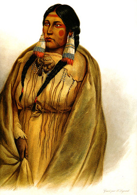 Tna 0028 Woman of the Cree Tribe KarlBodmer, 1832 sqs