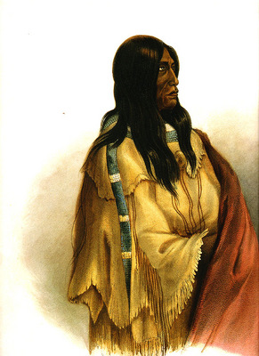 Tna 0029 Woman of the Snake Tribe KarlBodmer, 1832 sqs
