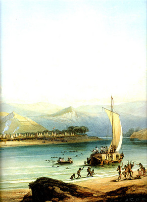 Tna 0032 Camp of the Gros Ventres KarlBodmer, 1834 sqs