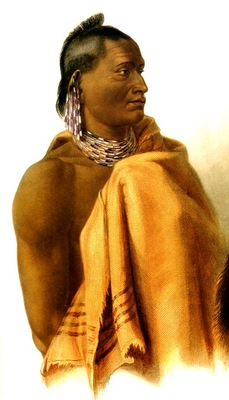 Tna 0038 Missouri Indian Karl Bodmer, 1833 sqs