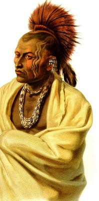 Tna 0040 Wakesasse, Musquake Indian Karl Bodmer, 1833 sqs