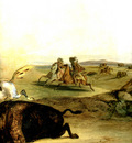 Kb 0023 Indians Hunting The Bison [ Right ] KarlBodmer, 1832 33 sqs