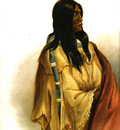 Tna 0029 Woman of the Snake Tribe KarlBodmer, 1832 sqs