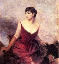 Boldini Giovanni Countess de Rasty Seated in an Armchair