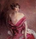 Boldini Giovanni Portrait of Mlle de Gillespie La Dame de Biarritz