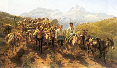 bonheur rosa muleteers crossing the pyrenees