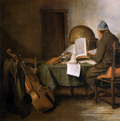 Borch ter Gerard Scientist in his study Sun